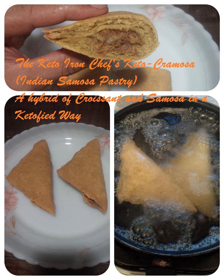 The Keto Iron Chef's Keto-Cramosa (Indian Samosa Pastry) A hybrid of Croissant and Samosa in a Ketofied Way